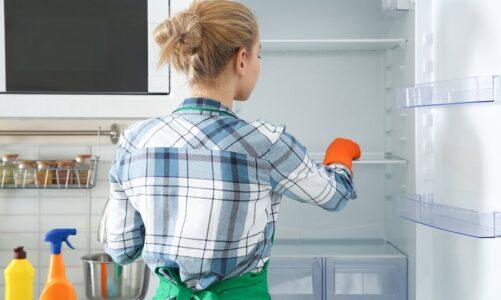 ¿Cómo limpiar el interior de la refrigeradora?